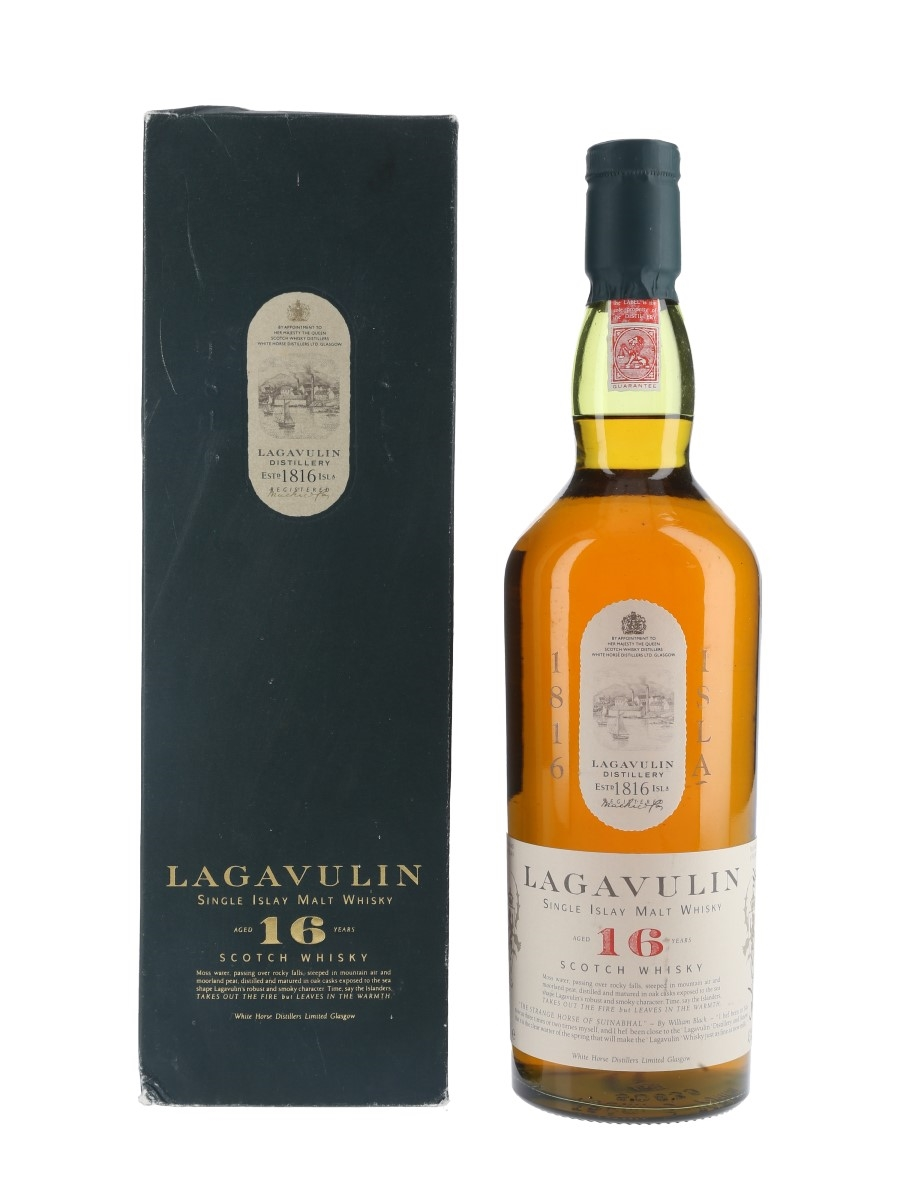 Lagavulin 16 Year Old Bottled 1980s - White Horse Distillers 75cl / 43%