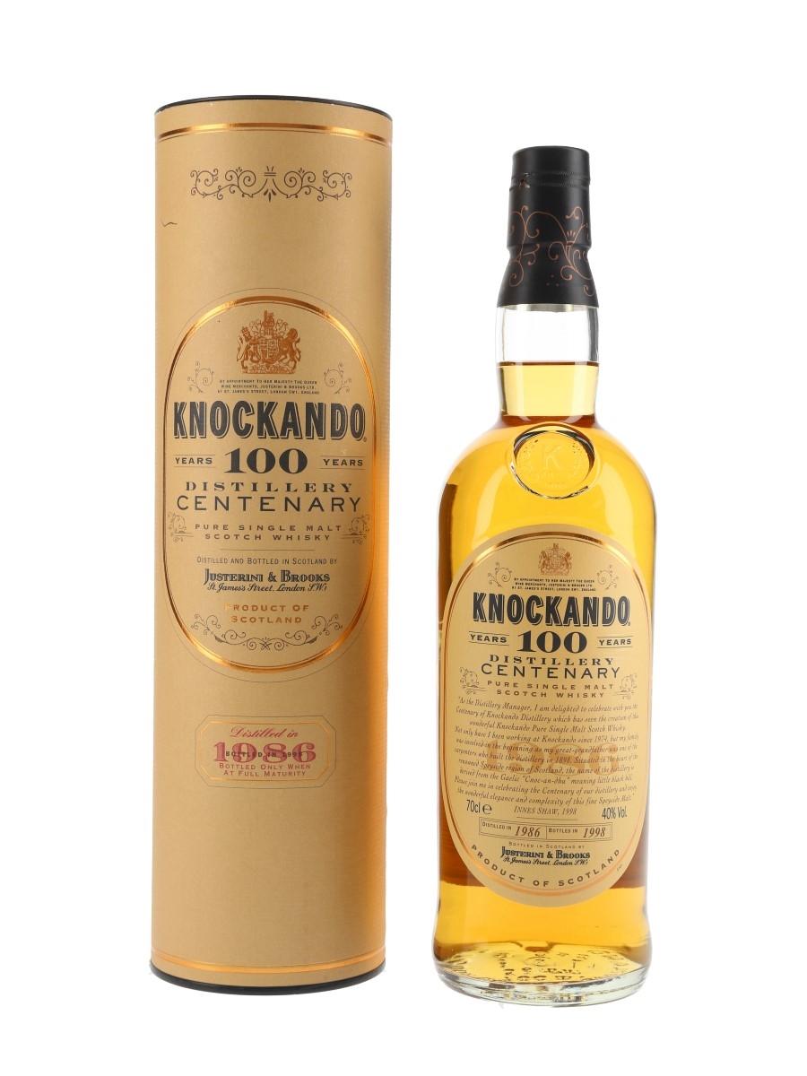 Knockando 1986 Centenary Bottled 1998 70cl / 40%