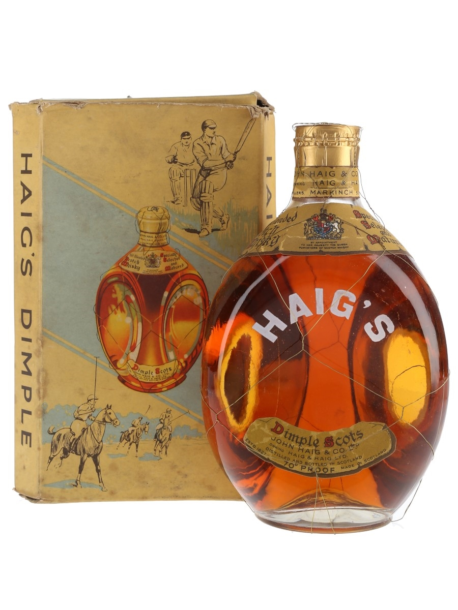 Haig's Dimple Spring Cap Bottled 1950s 75cl