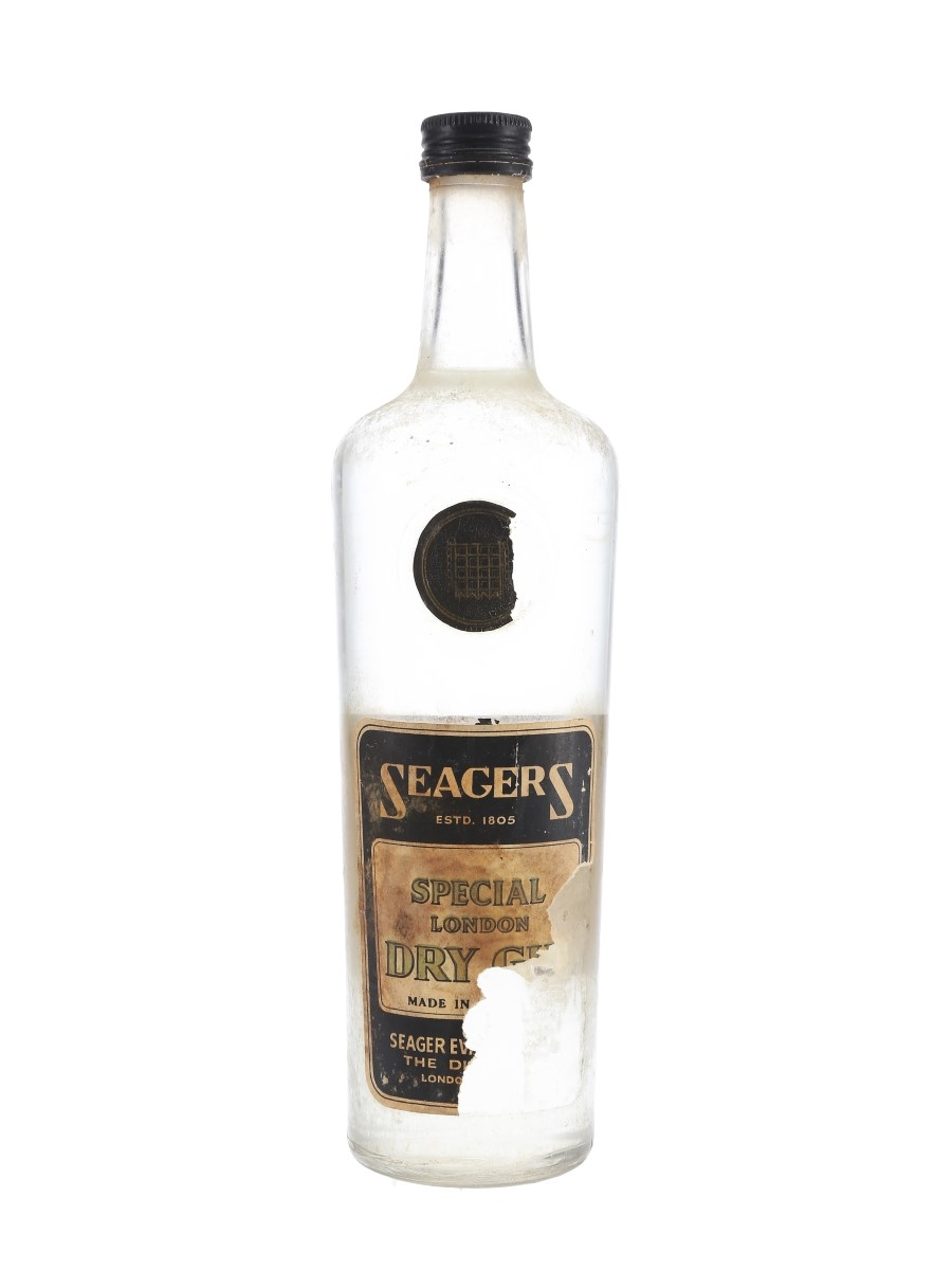 Seager's Special London Dry Gin Bottled 1960s 75cl