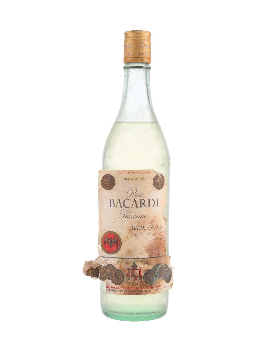 Bacardi Carta Blanca Bottled 1960s - Cuba 75cl / 40%