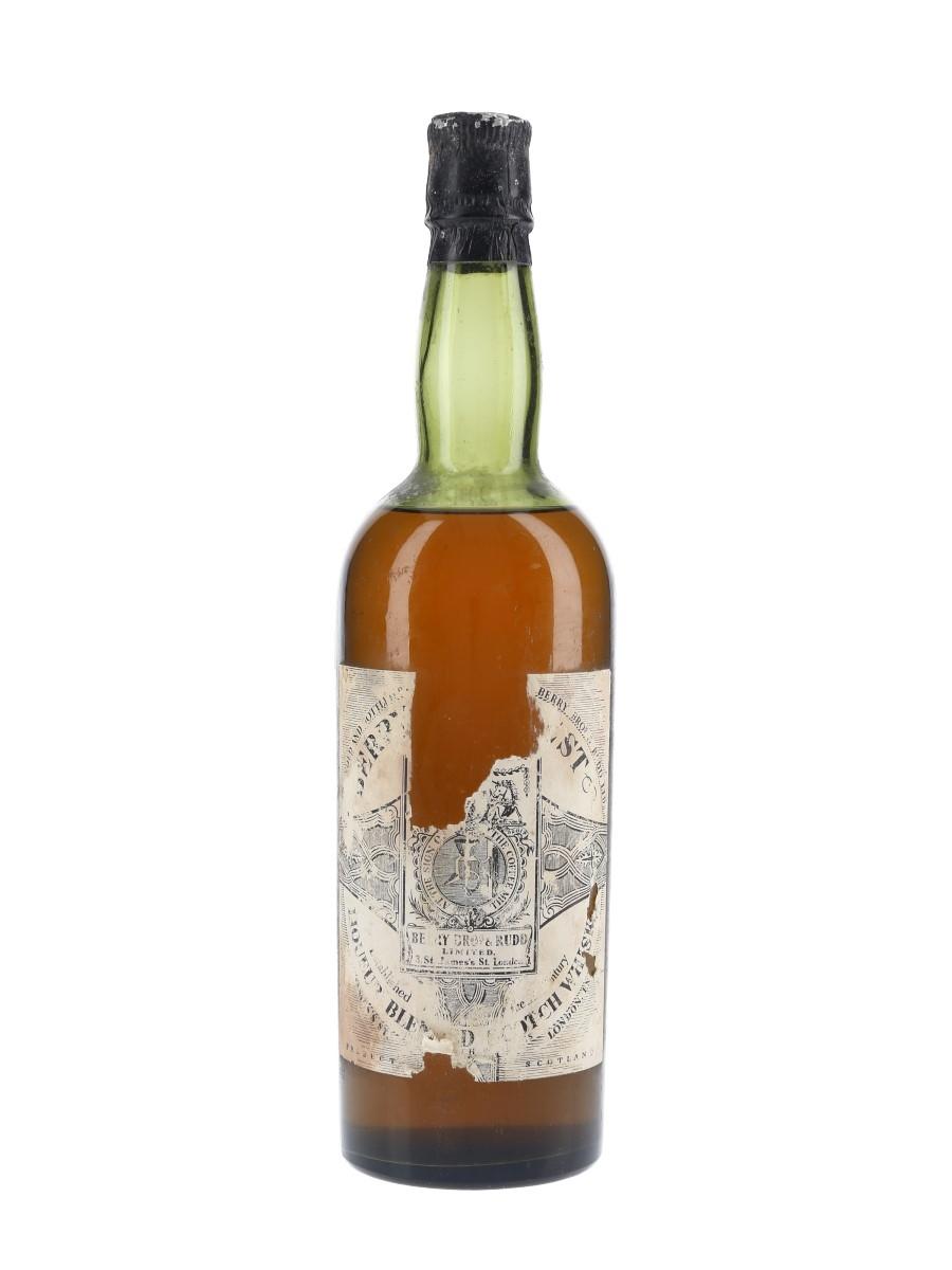 Berry Bros Liqueur Blended Scotch Whisky Bottled 1950s 75cl