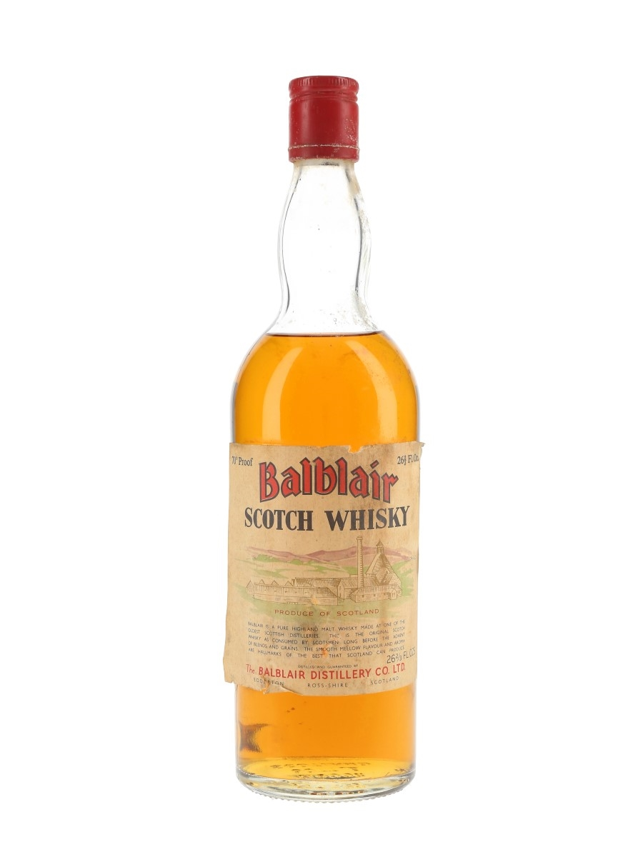 Balblair Scotch Whisky Bottled 1970s 75.7cl / 40%