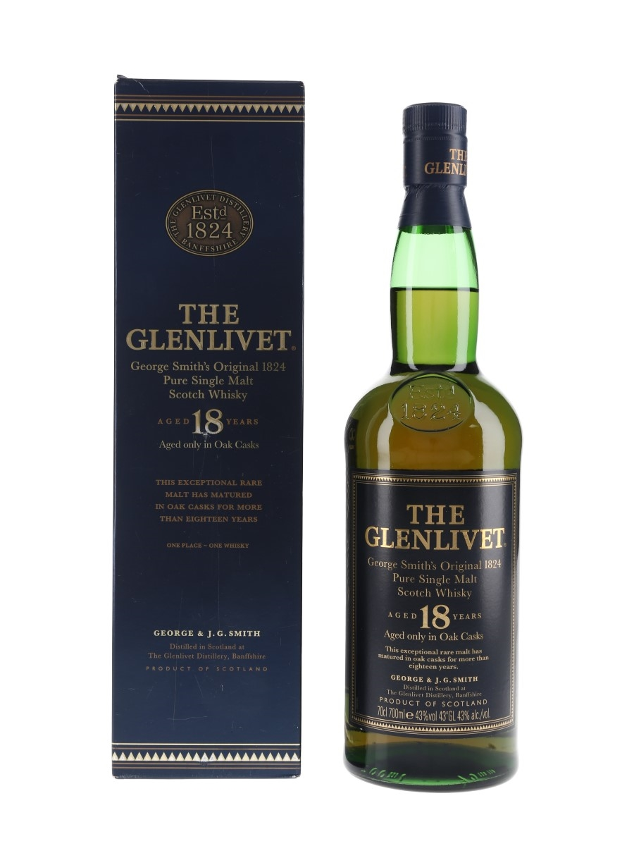 Glenlivet 18 Year Old Bottled 1990s-2000s 70cl / 43%