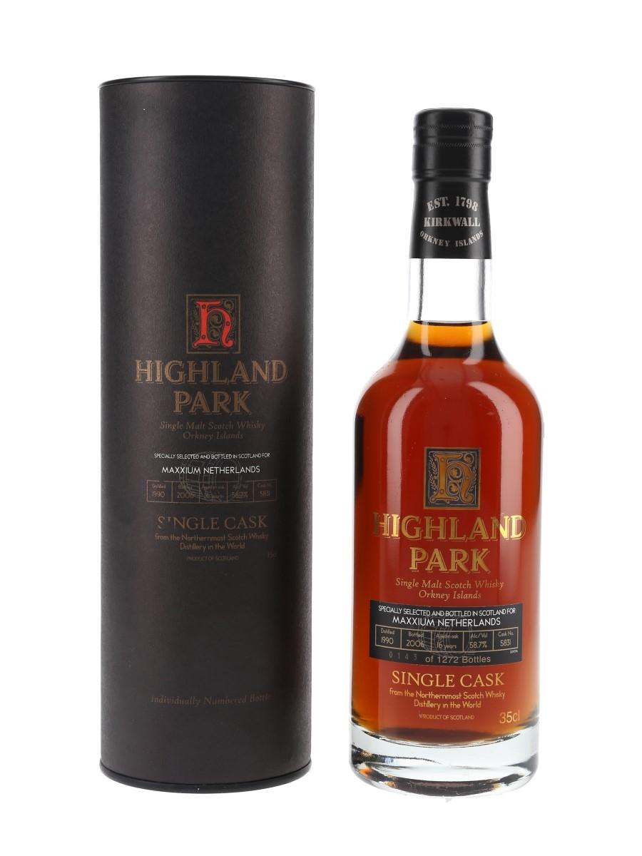 Highland Park 1990 16 Year Old Single Cask No. 5831 Bottled 2006 - Maxxium Netherlands 35cl / 58.7%
