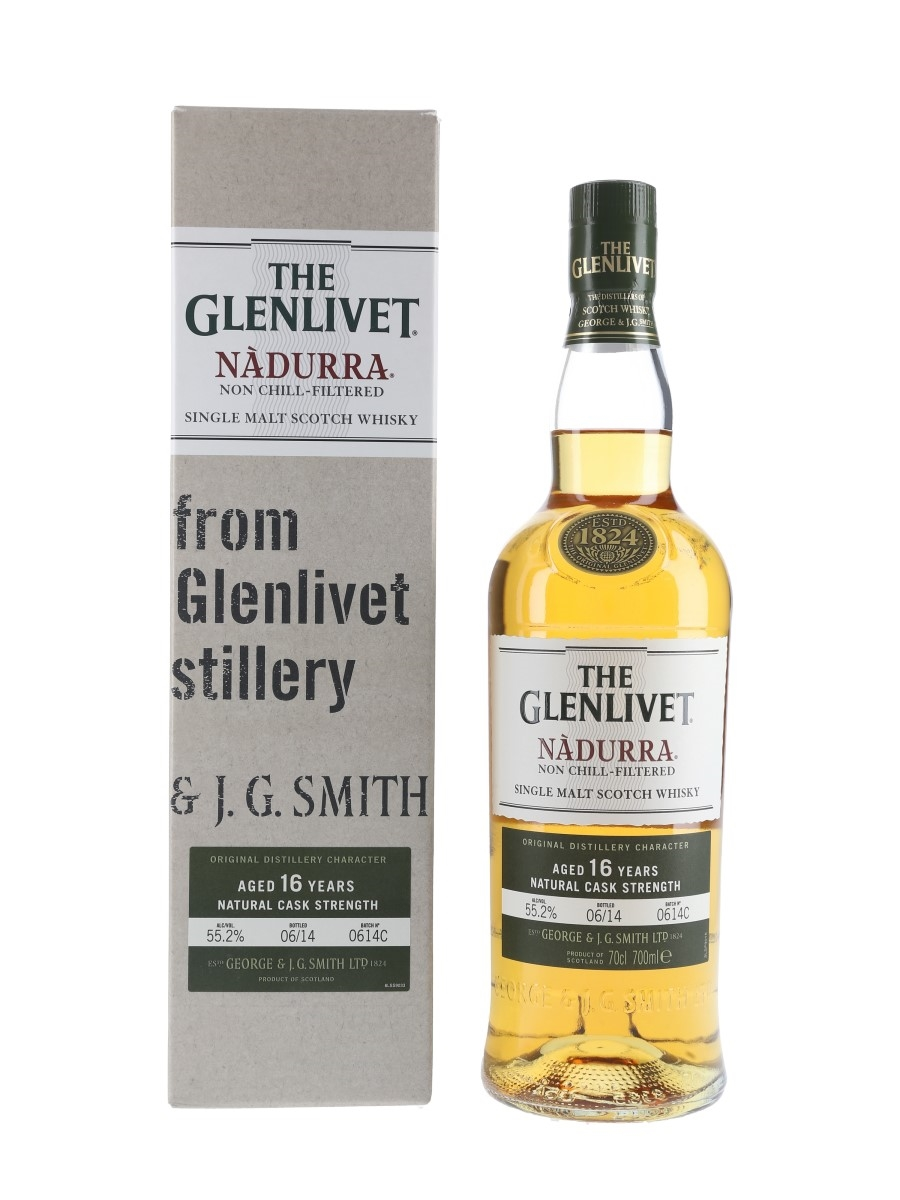 Glenlivet 16 Year Old Nadurra Bottled 2014 - Batch 0614C 70cl / 55.2%