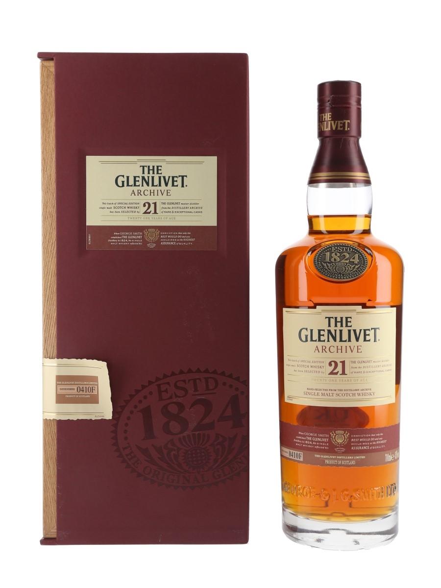 Glenlivet Archive 21 Year Old Batch Number 0410F 70cl / 43%