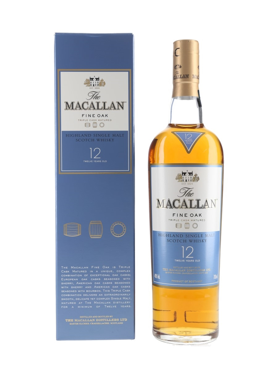 Macallan 12 Year Old Fine Oak Triple Cask Matured 70cl / 40%