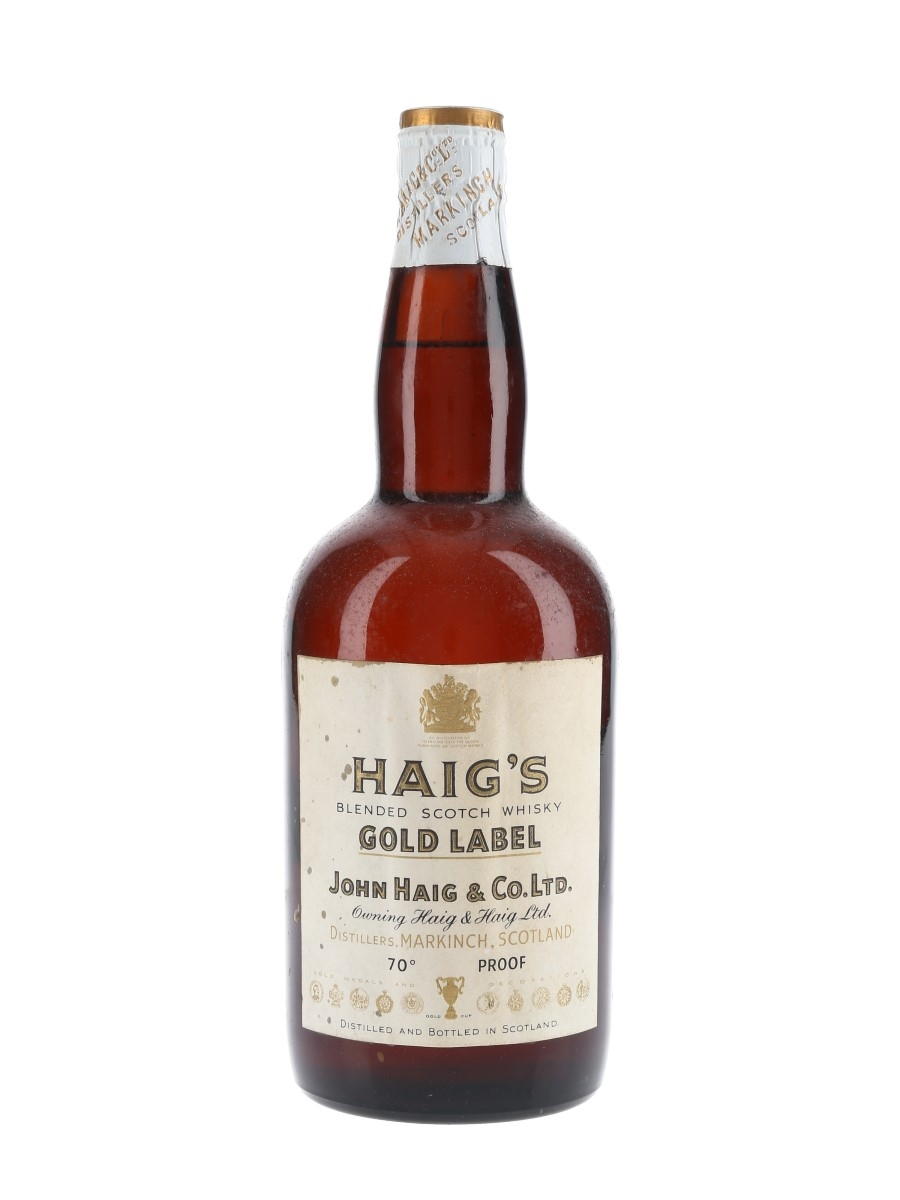 Haig's Gold Label Spring Cap Bottled 1960s 75cl / 40%