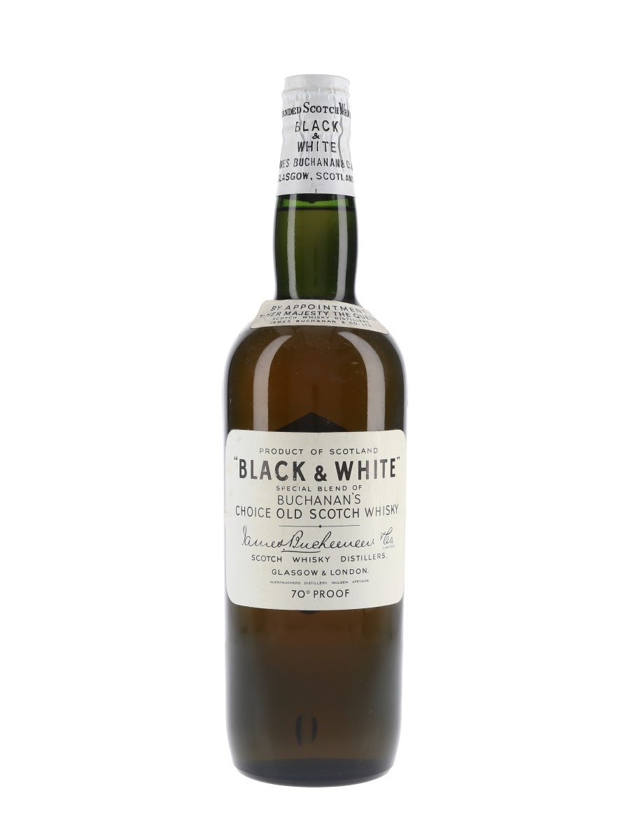 Buchanan's Black & White Spring Cap Bottled 1960s 75.7cl / 40%
