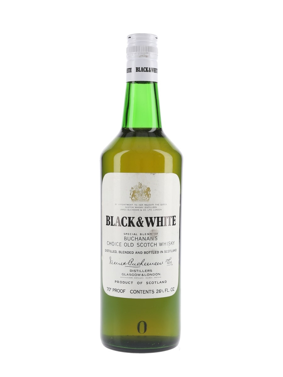 Buchanan's Black & White Bottled 1970s 75.7cl / 40%