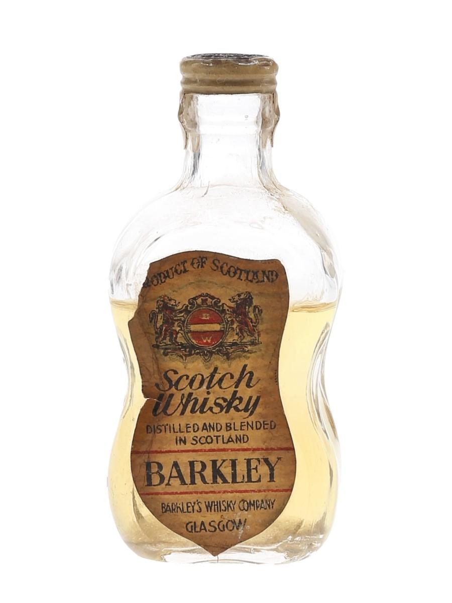 Barkley Scotch Whisky Bottled 1950s 5cl