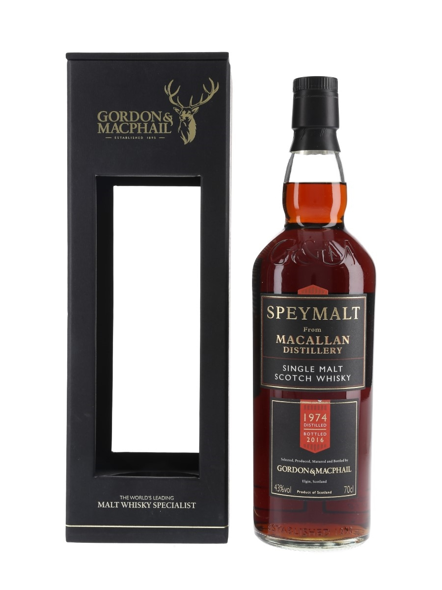 Macallan 1974 Speymalt Bottled 2016 - Gordon & MacPhail 70cl / 43%