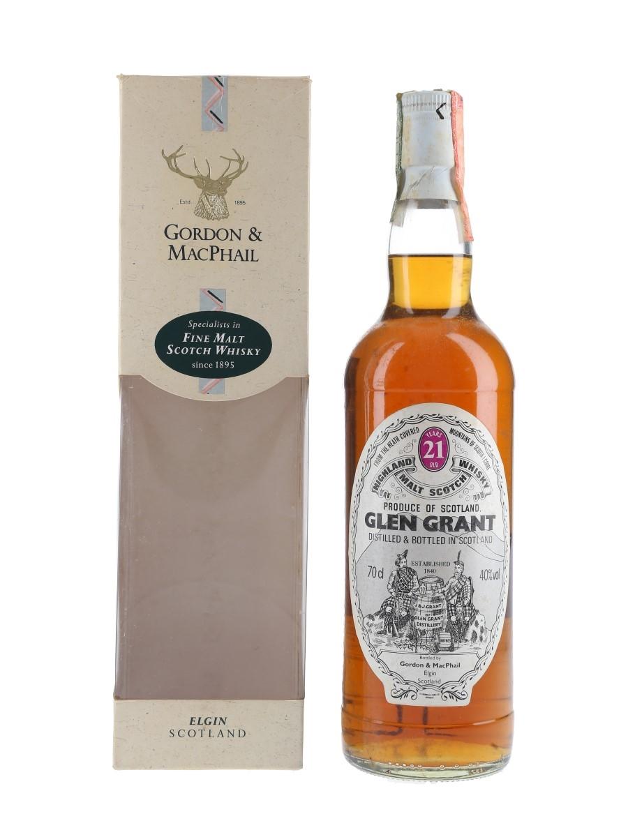 Glen Grant 21 Year Old Bottled 2000s - Gordon & MacPhail 70cl / 40%