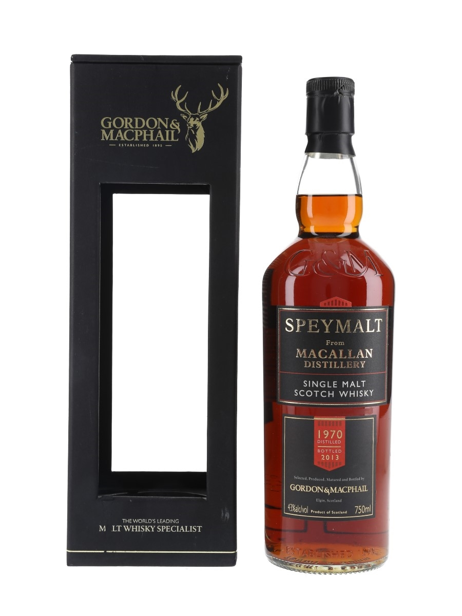 Macallan 1970 Speymalt Bottled 2013 - Gordon & MacPhail 75cl / 43%