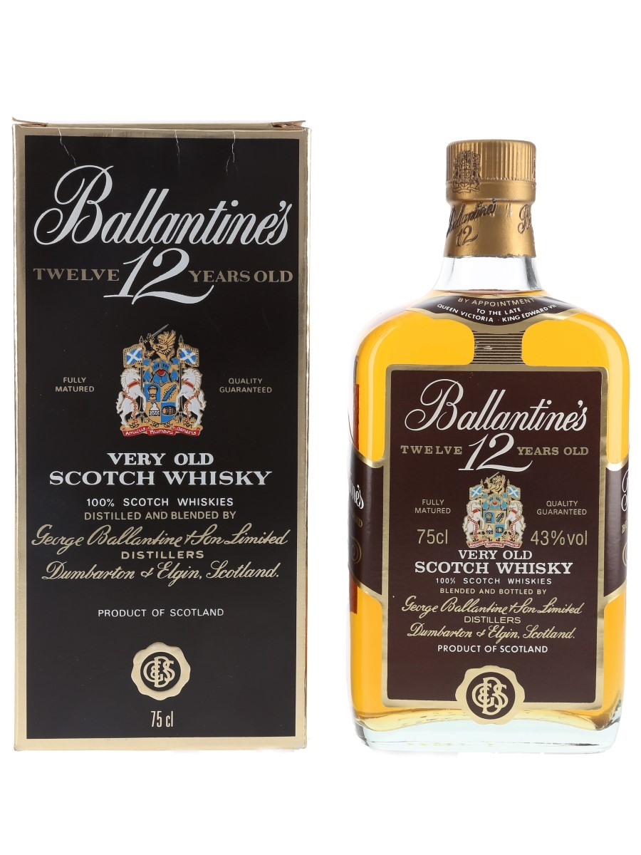 Ballantine's 12 Year Old Bottled 1980s 75cl / 43%