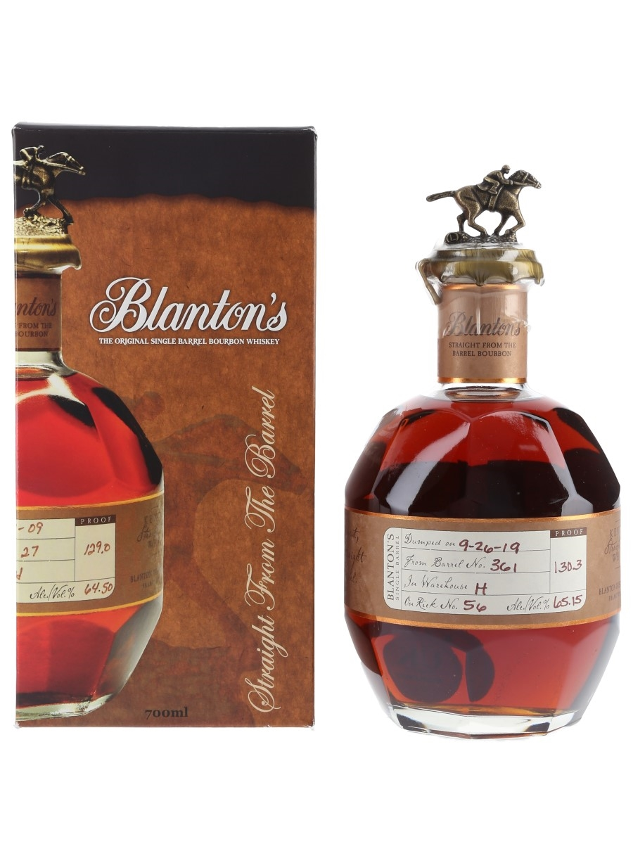 Blanton's Straight From The Barrel No. 361 Bottled 2020 70cl / 65.15%