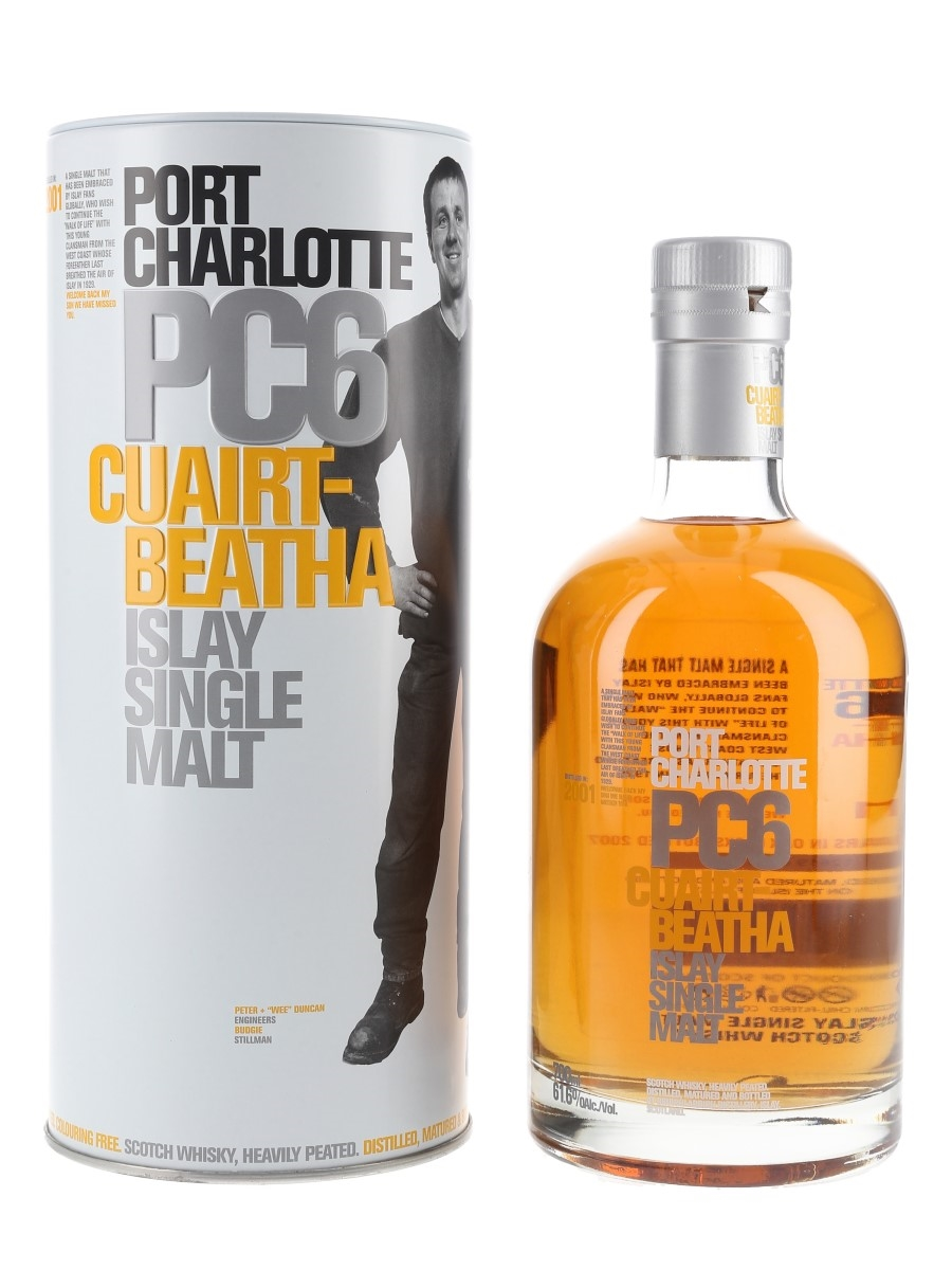 Port Charlotte PC6 2001 6 Year Old Bottled 2007 - Cuairt-Beatha 70cl / 61.6%