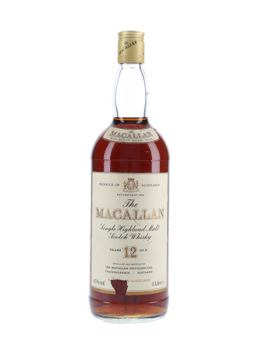 Macallan 12 Year Old Bottled 1980s 100cl / 43%