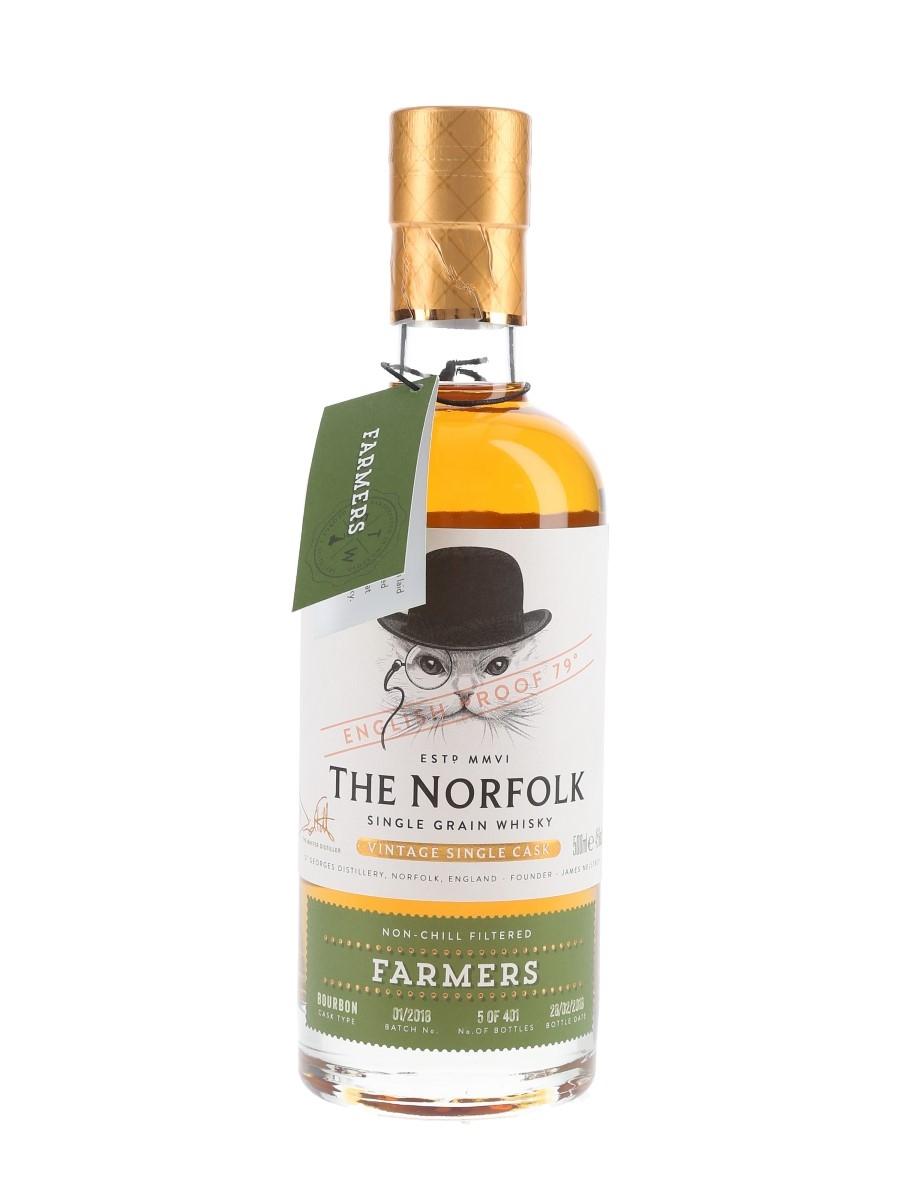 The Norfolk Farmers Single Grain - Bottle Number 5 Bottled 2018 - Batch No. 01-2018 50cl / 45%