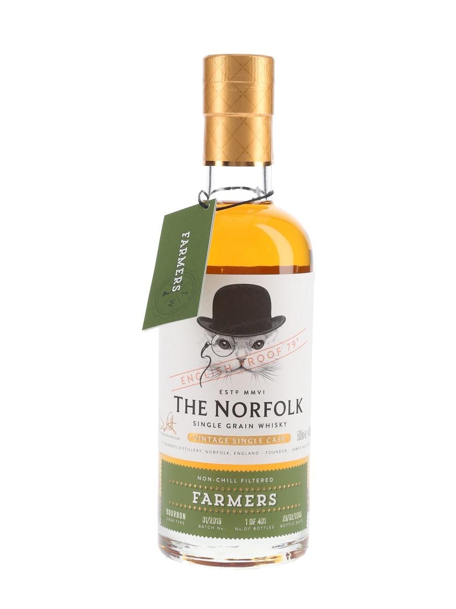The Norfolk Farmers Single Grain - Bottle Number 1 Bottled 2018 - Batch No. 01-2018 50cl / 45%