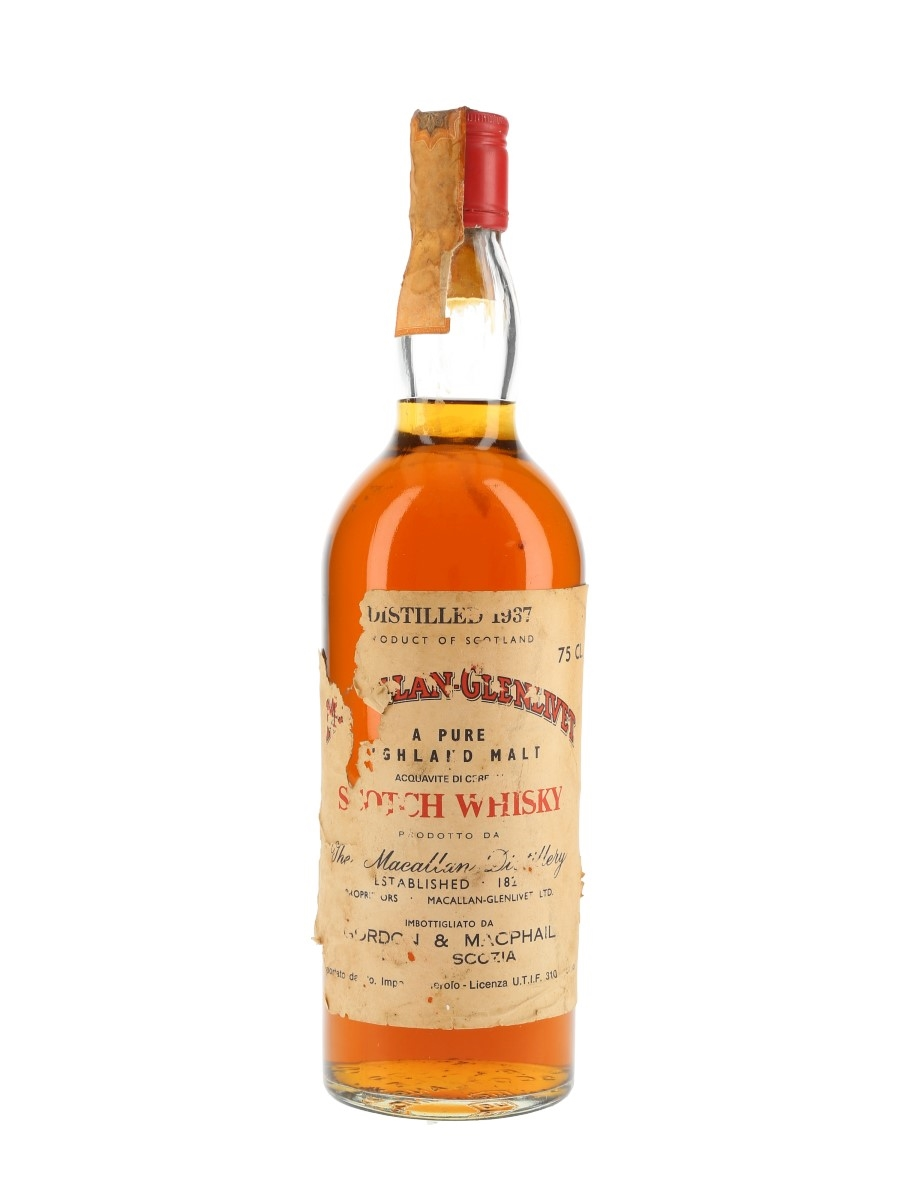 Macallan Glenlivet 1937 Bottled 1970s - Co. Import Pinerolo 75cl