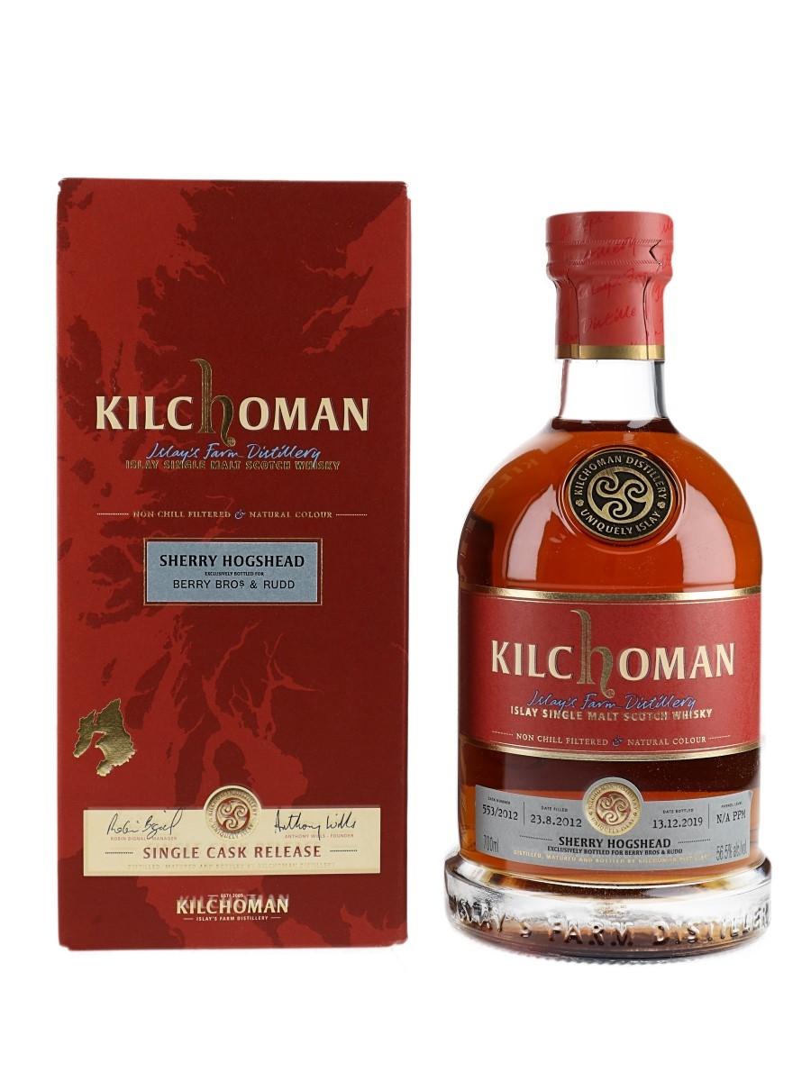 Kilchoman 2012 Single Sherry Hogshead Bottled 2019 - Berry Bros & Rudd 70cl / 56.5%