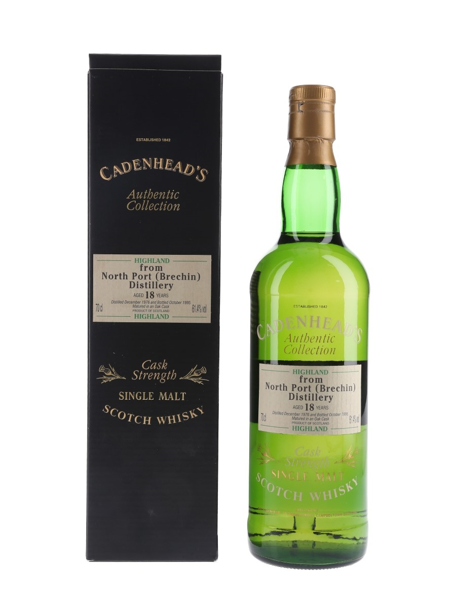 North Port Brechin 1976 18 Year Old Bottled 1995 - Cadenhead's 70cl / 61.4%