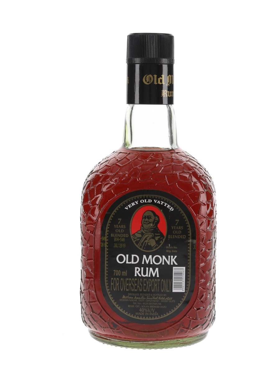Old Monk 7 Year Old Rum Bottled 2019 - India 70cl / 40%