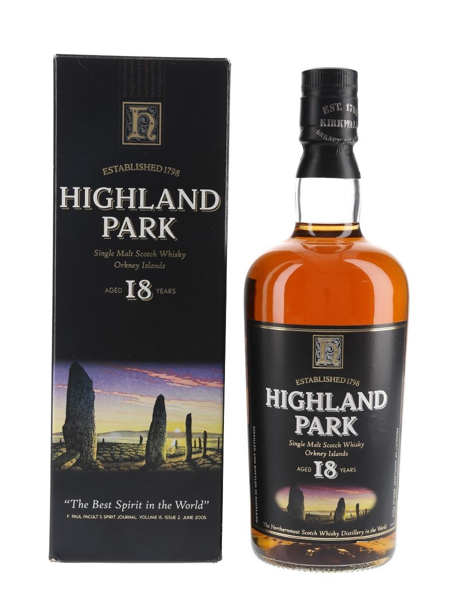 Highland Park 18 Year Old Bottled 1990s-2000s 70cl / 43%