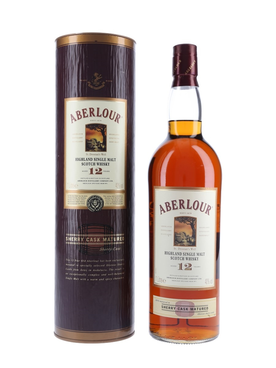 Aberlour 12 Year Old Sherry Cask Bottled 2000s 100cl / 40%