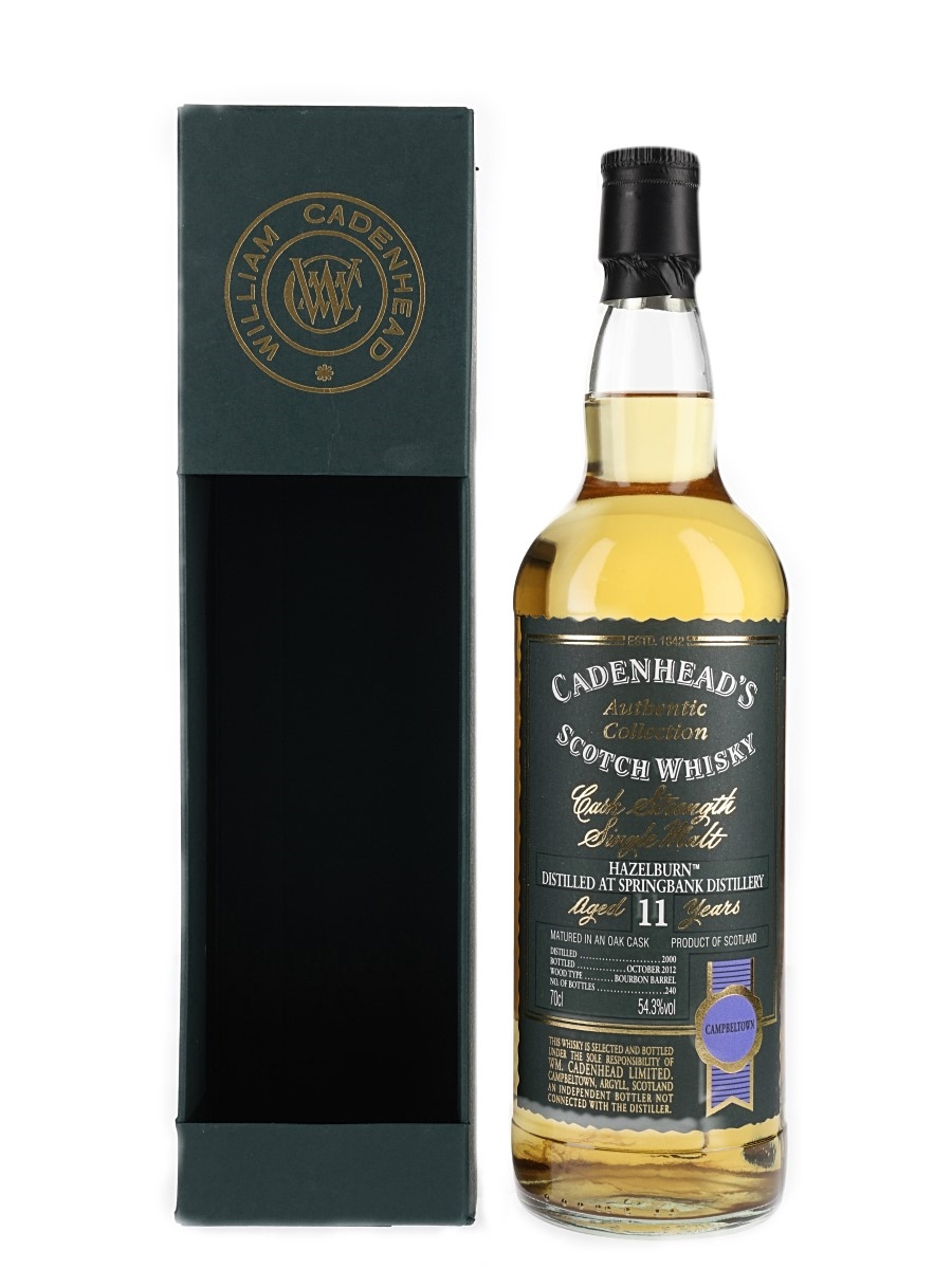 Hazelburn 2000 11 Year Old Bottled 2012 - Cadenhead's 70cl / 54.3%