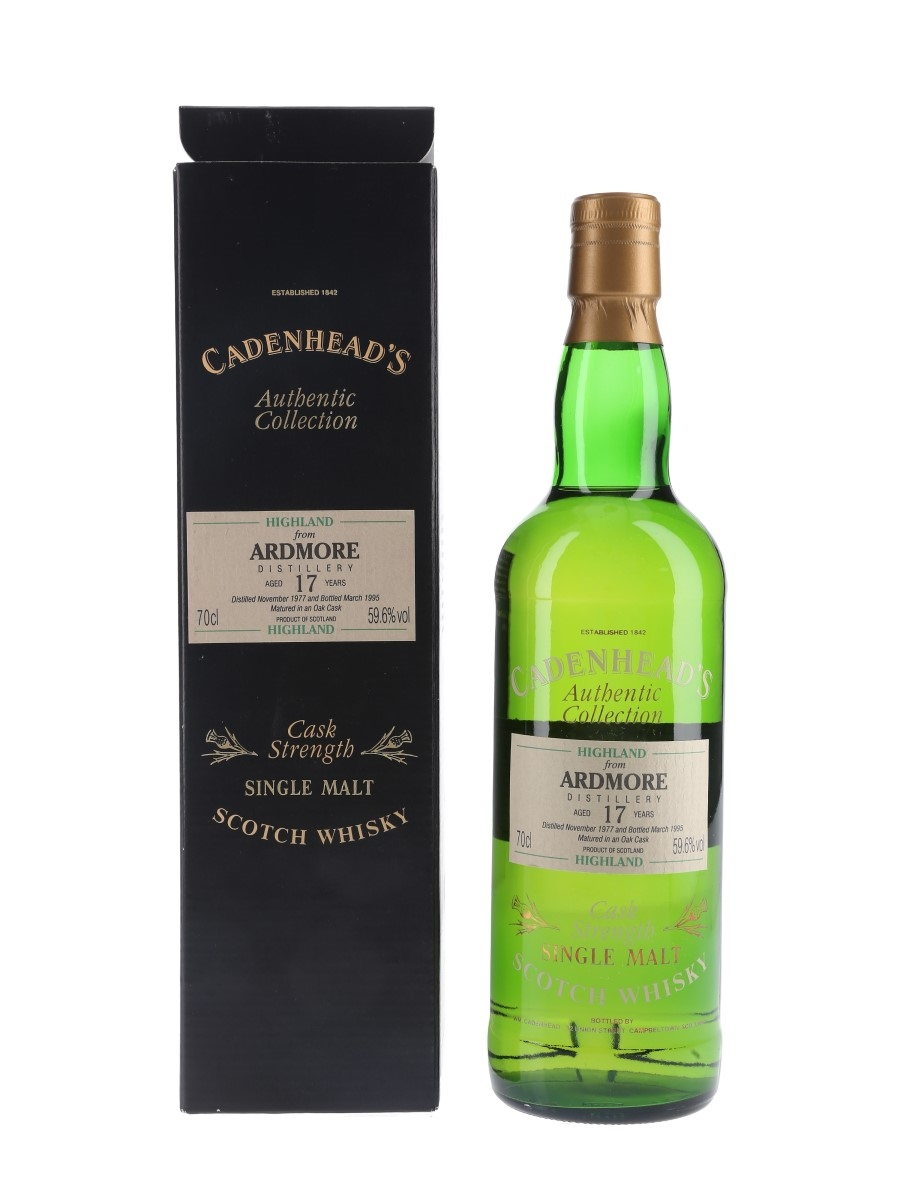 Ardmore 1977 17 Year Old Bottled 1995 - Cadenhead's 70cl / 59.6%