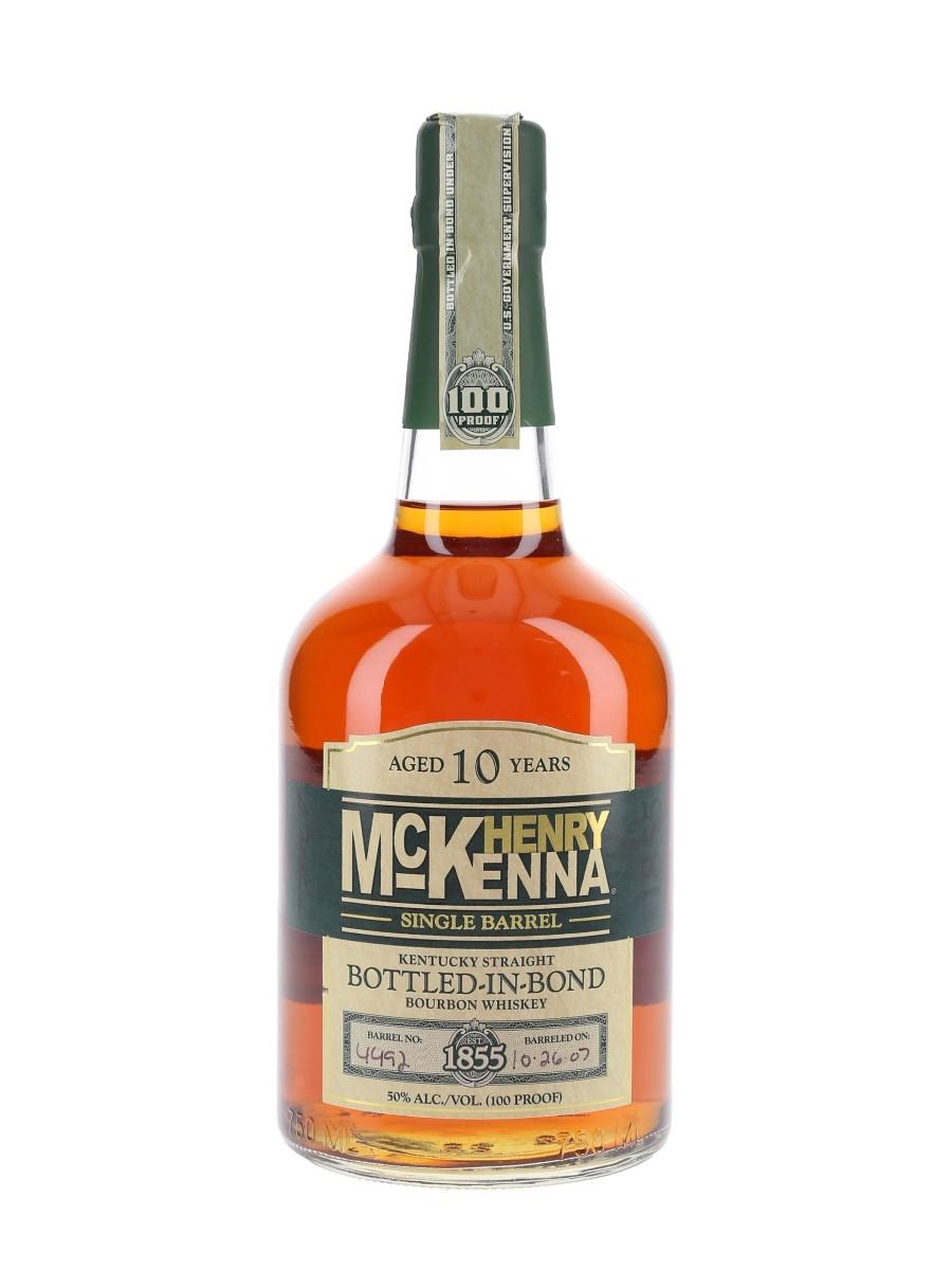 Henry McKenna 2007 10 Year Old Bottled In Bond Single Barrel No.4492 75cl / 50%