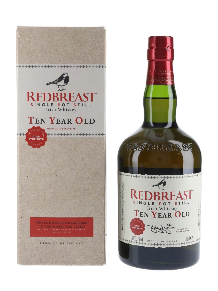 Redbreast 10 Year Old Single Pot Still Batch Number 1 - Birdhouse Exclusive 70cl / 59.1%