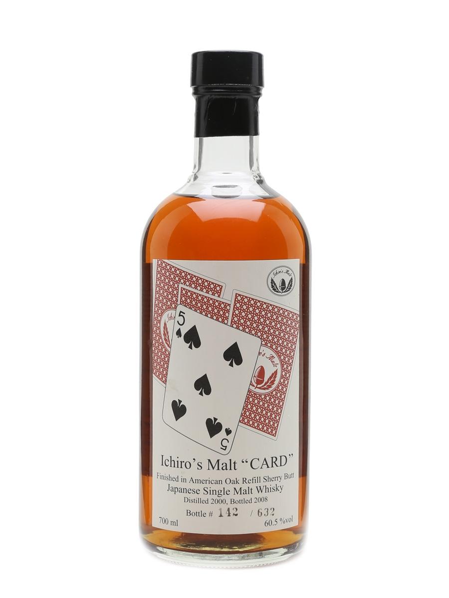 Hanyu 2000 Ichiro's Malt Five Of Spades Card Series - Cask # 9601 70cl / 60.5%
