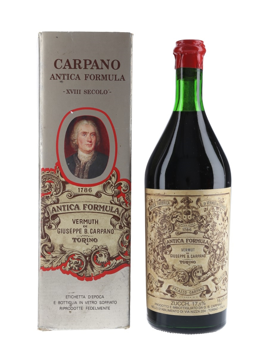 Carpano Antica Formula Vermouth Bottled 1960s 100cl / 16.5%