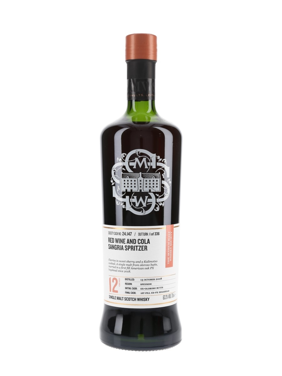 SMWS 24.147 Red Wine And Cola Sangria Spritzer Macallan 2008 12 Year Old 70cl / 63.3%