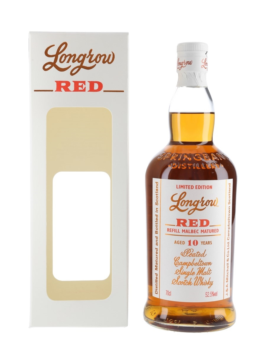Longrow Red 10 Year Old Refill Malbec Matured Bottled 2020 70cl / 52.5%