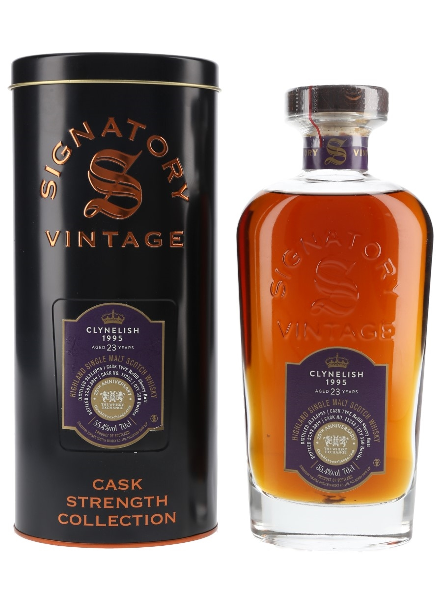 Clynelish 1995 23 Year Old Bottled 2019 - The Whisky Exchange 20th Anniversary 70cl / 55.4%