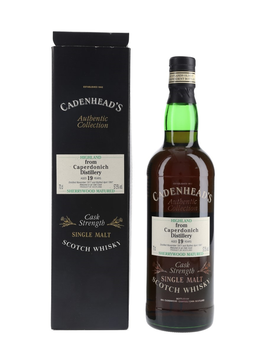 Caperdonich 1977 19 Year Old Bottled 1997 - Cadenhead's 70cl / 57.5%