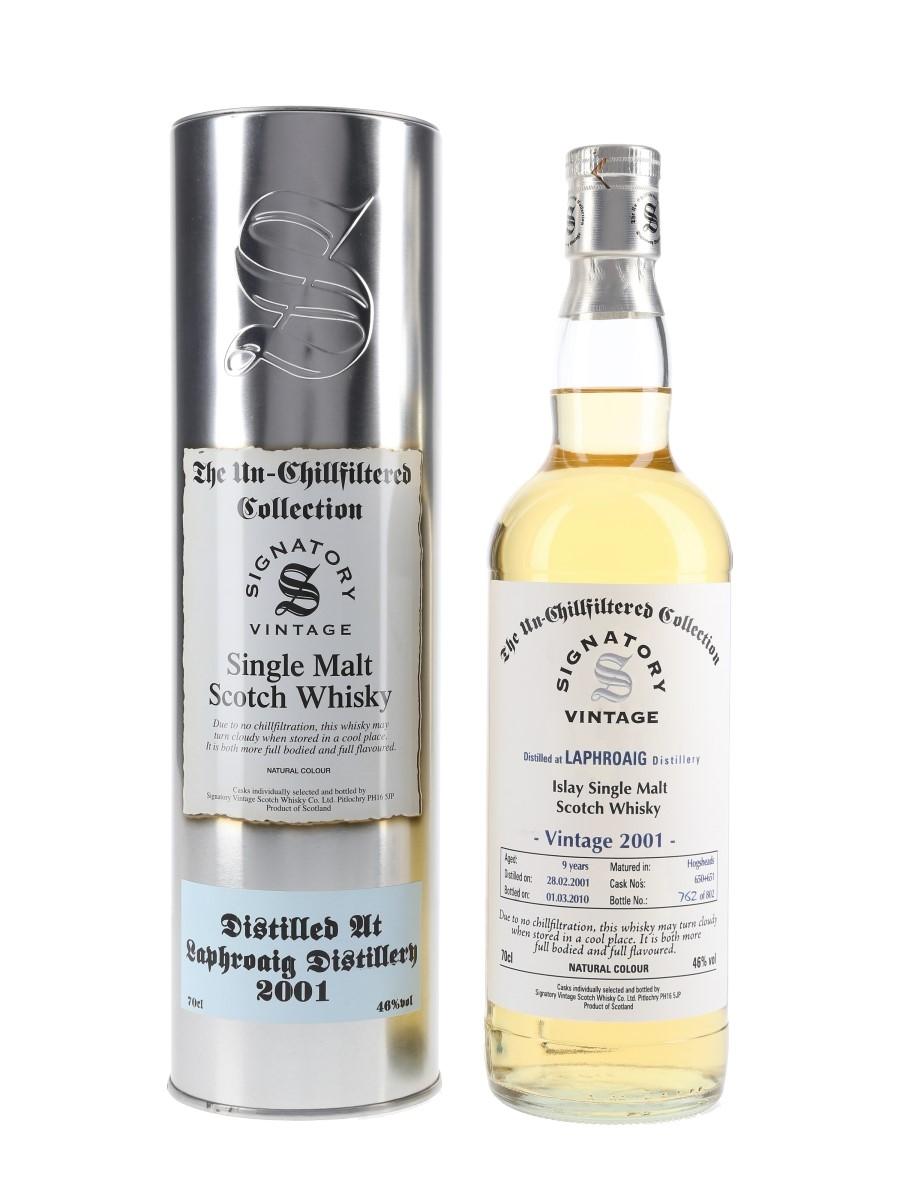 Laphroaig 2001 9 Year Old Bottled 2010 - Signatory Vintage 70cl / 46%