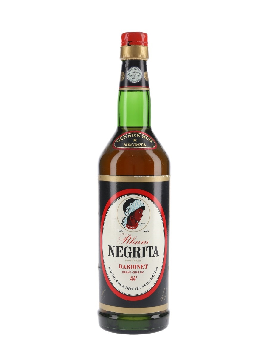Bardinet Negrita Old Nick Rum Bottled 1960s-1970s 70cl / 44%