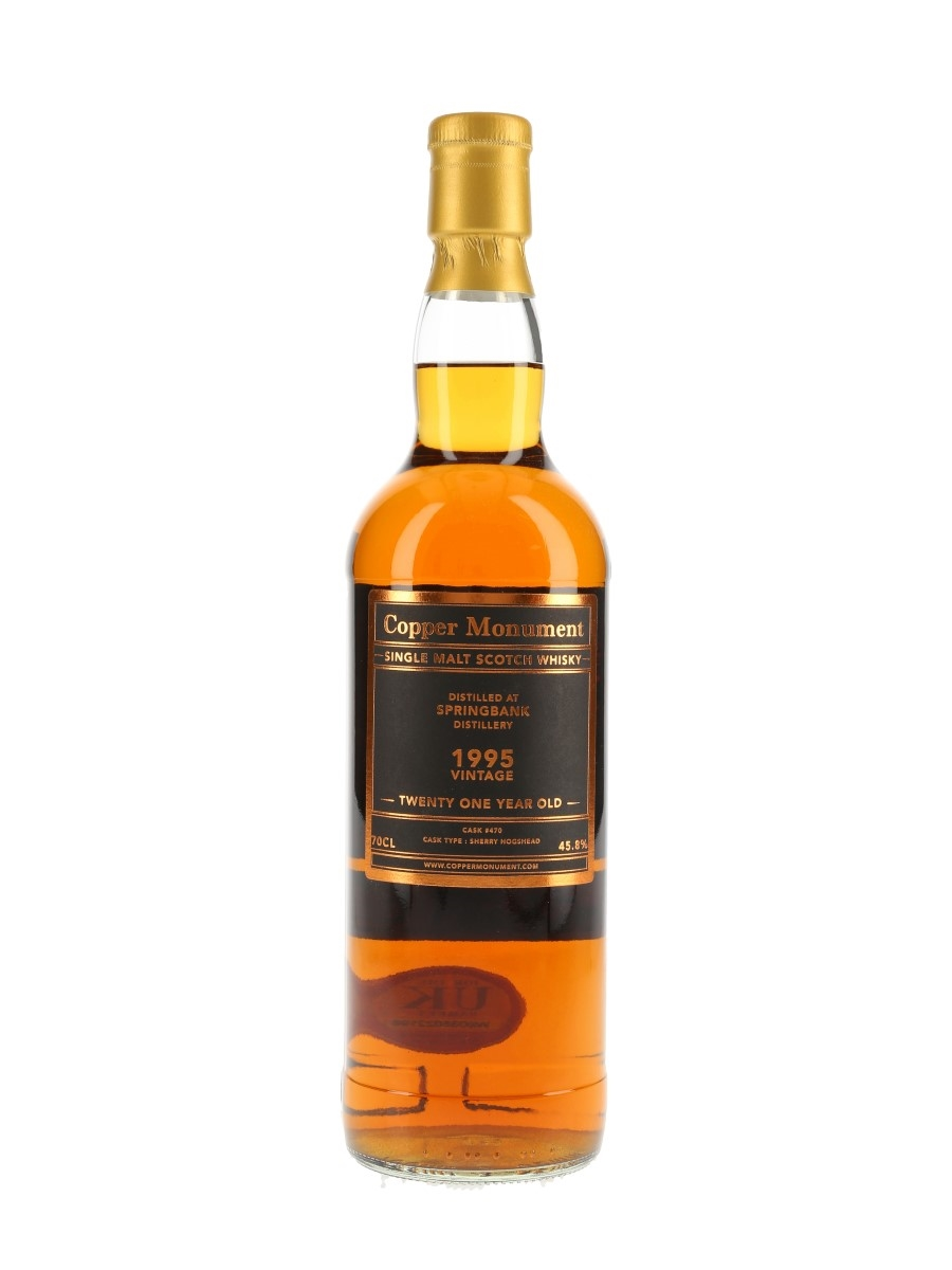 Springbank 1995 21 Year Old Copper Monument 70cl / 45.8%