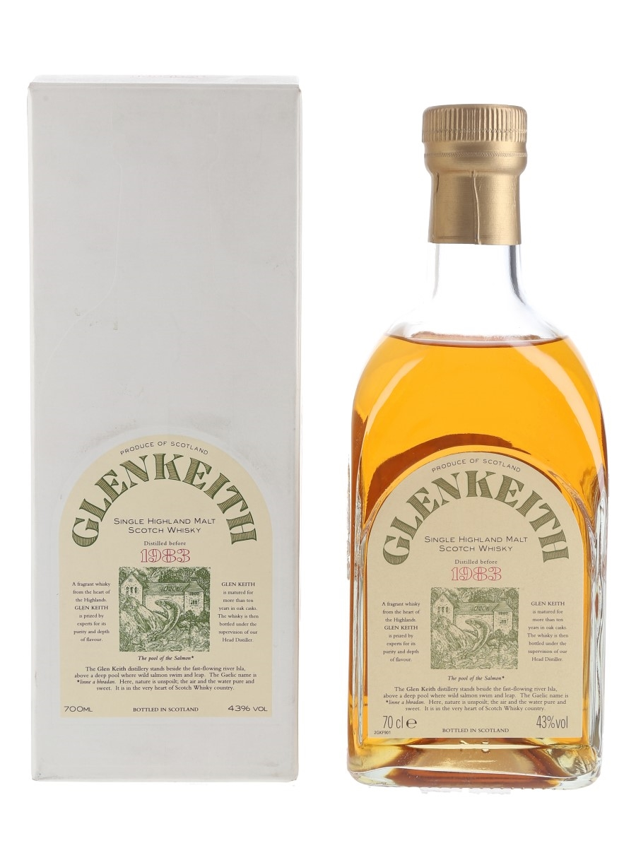 Glen Keith 10 Year Old Distilled Before 1983 Bottled 1990s 70cl / 43%