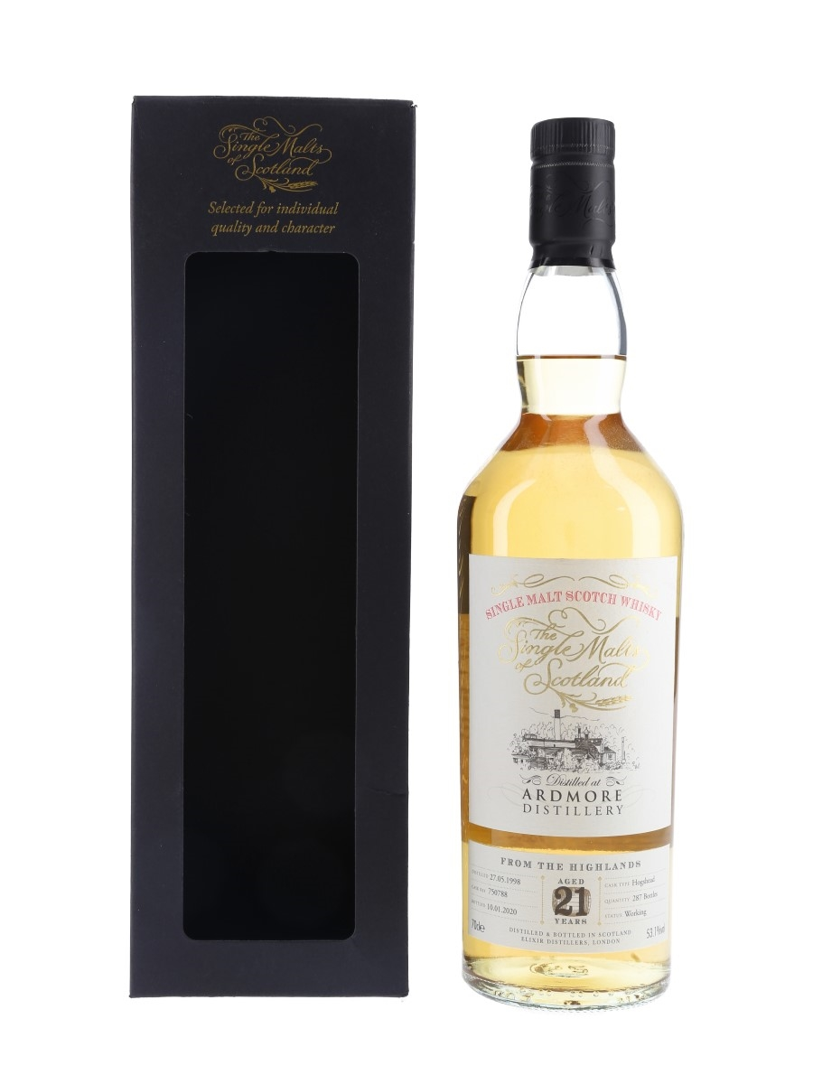Ardmore 1998 21 Year Old Bottled 2020 - The Single Malts Of Scotland 70cl / 53.1%