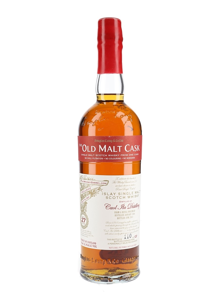 Caol Ila 1984 27 Year Old The Old Malt Cask Bottled 2011 - The WhiskyBarrel.com 70cl / 52.4%
