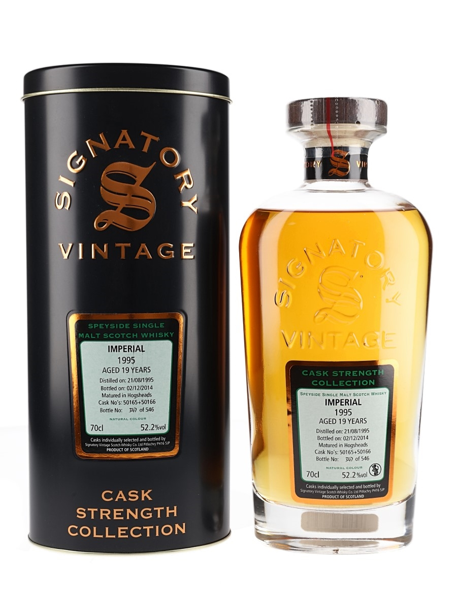 Imperial 1995 19 Year Old Bottled 2014 - Signatory Vintage 70cl / 52.2%