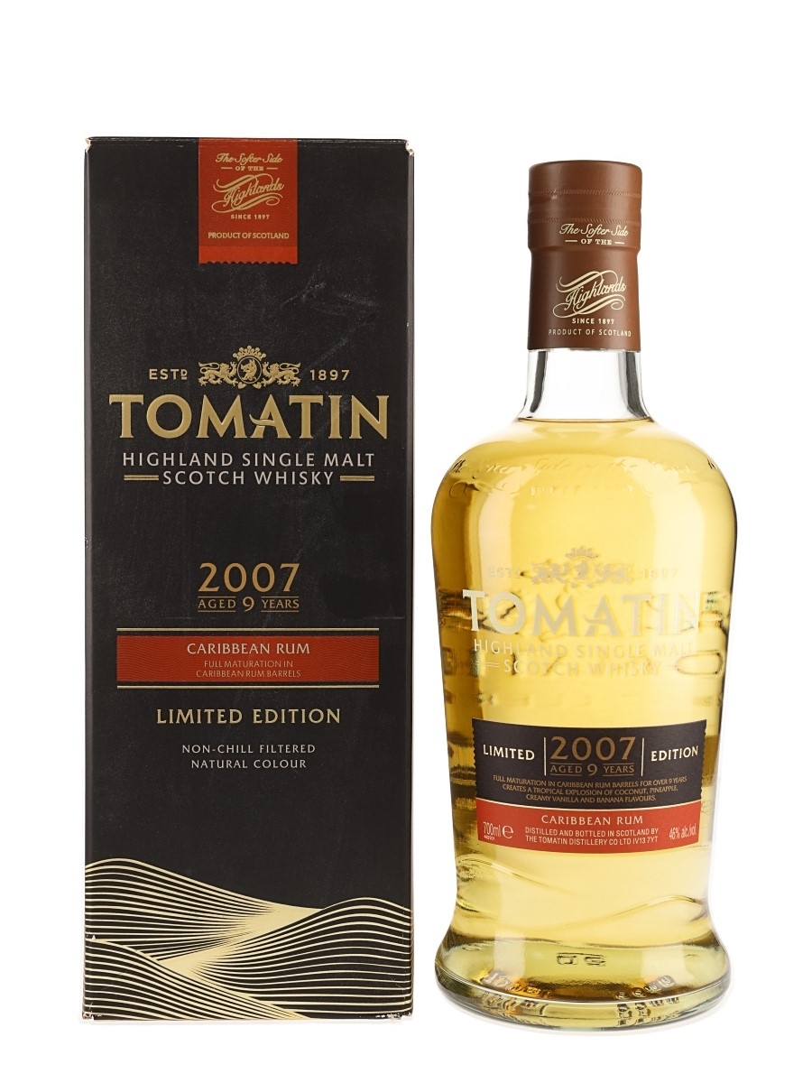 Tomatin 2007 9 Year Old Caribbean Rum Cask Matured 70cl / 46%