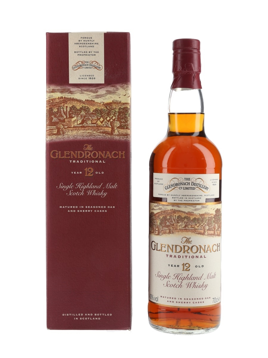 Glendronach 12 Year Old Traditional Bottled 1990s 70cl / 40%